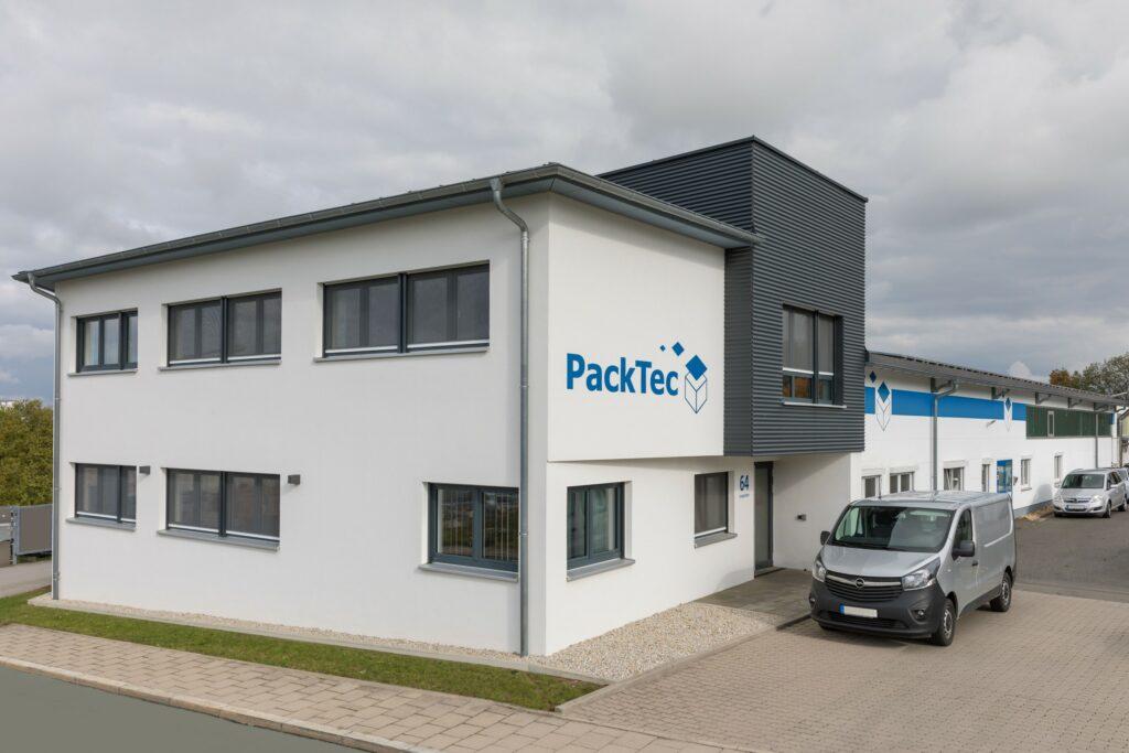 Das Firmengebäude vom Unternehmen PackTec